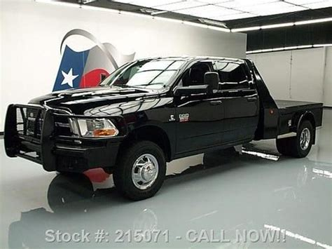 Buy used 2012 DODGE RAM 3500 4X4 DIESEL DRW FLATBED BRUSH