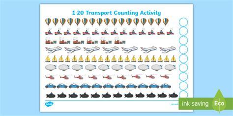 transport 1 20 counting worksheet worksheet my counting worksheet