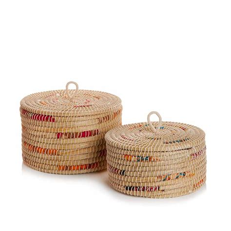 chindi stripe baskets small med set  baskets