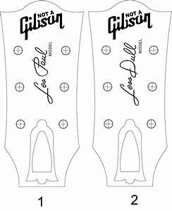 les paul headstock template pdf cerca con google With gibson les paul headstock template