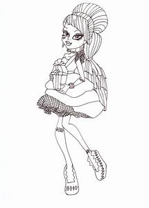 Free Printable Monster High Coloring Pages: Frankie Sweet ...