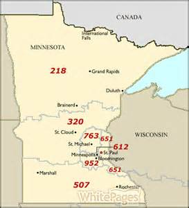 Area Code Map Minnesota