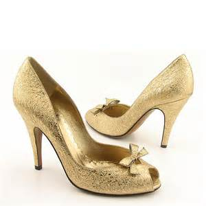 gold shoes wedding wedding by designs ellegant gold bridal shoes