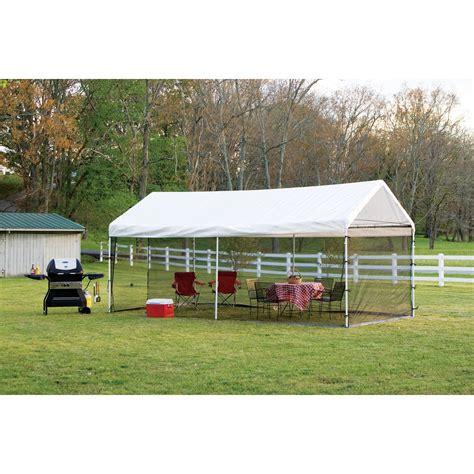 shelterlogic    canopy screen house kit black