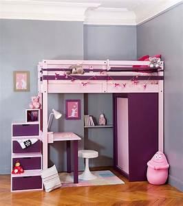 Lit Fille Avec Rangement : lits mezzanines jeune urbaine ~ Melissatoandfro.com Idées de Décoration