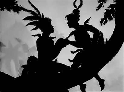 Silhouette Lotte Reiniger 1935 Shadow Papageno Kissing
