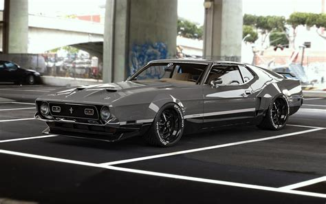 ford mustang mach  red hornet   cool widebody