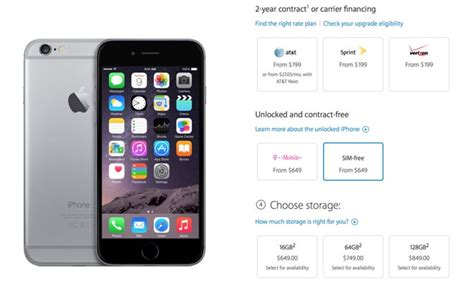 how to get a free iphone 6 apple begins selling unlocked sim free iphone 6 and 6