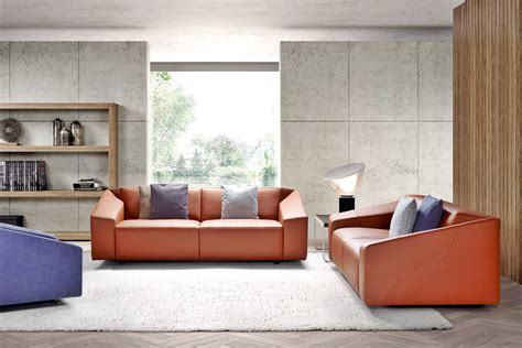 canapé faux cuir awesome salon design contemporain contemporary adin info