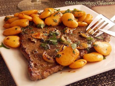 recette cuisine economique steak à l 39 ail haricots blancs sautées le cuisine