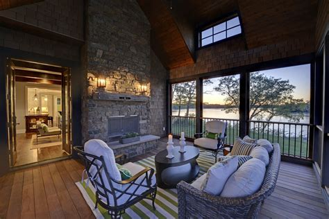screened porch with fireplace screened in porch with fireplace porch rustic with