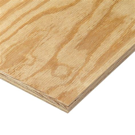 home depot flooring plywood 23 32 in x 4 ft x 8 ft rtd sheathing syp 166103 the home depot