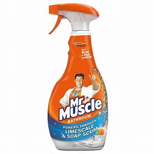 Bathroom and toilet cleaner mr muscle for Mr muscle bathroom and toilet cleaner