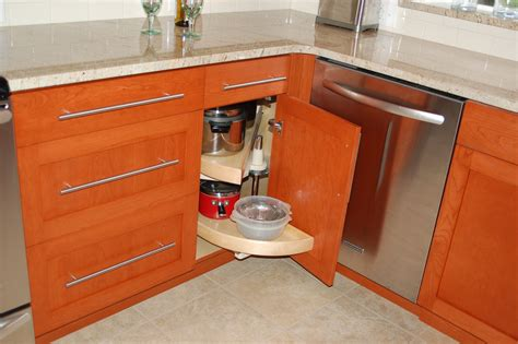 Blind Corner Base Cabinet Solutions by Kitchen Storage Solutions Construction Inc