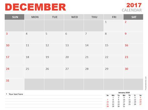 powerpoint calendar template 2017 december powerpoint calendar 2017 calendar template 2018