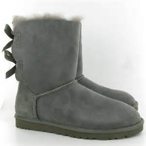 Grey Bailey Bow UGG Boots