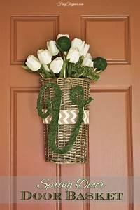 Spring, Decor, Door, Basket