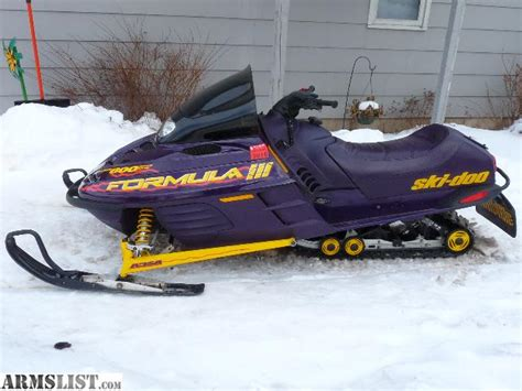 formula 3 skidoo armslist for sale 1999 ski doo formula iii 600