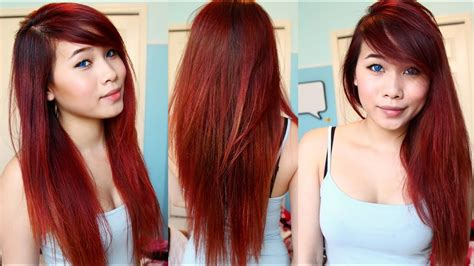 How To Do Ombre Dip Dye Hair At Home Dye Your Hair Youtube