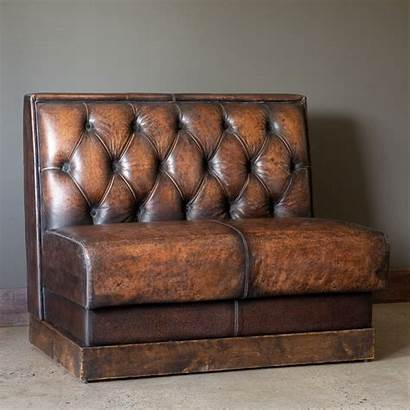 Booth Leather Aged Seating Restaurant Kitchen Banquette