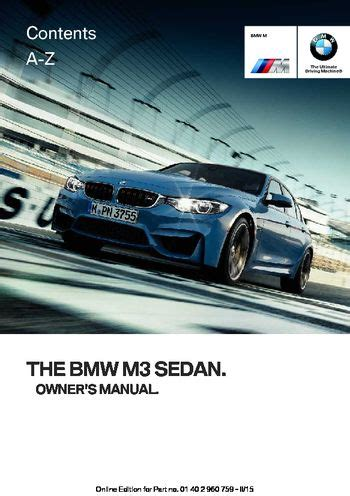 download car manuals pdf free 2003 bmw m3 instrument cluster download 2016 bmw m3 sedan owner s manual pdf 226 pages