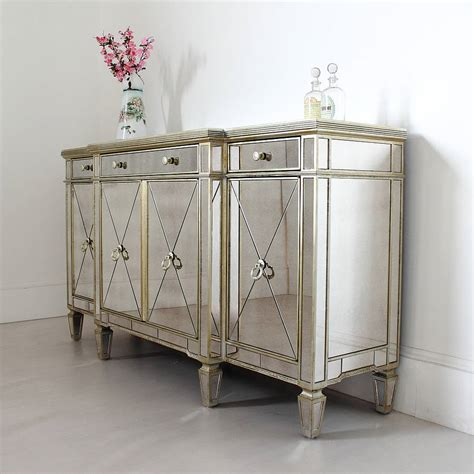 mirrored buffet tables antique mirrored sideboard by out there interiors 4158