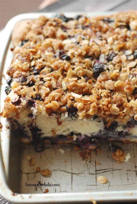 coffee cake  blueberries   coconut streusel