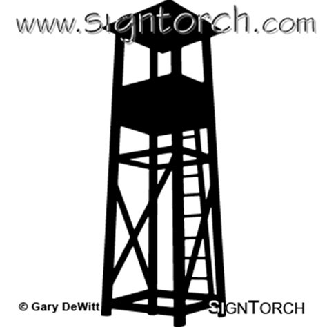 guard tower  signtorch turning images  vector