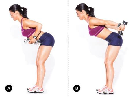 Standing Kickbacks Exercise exercises for lean arms with lightly dumbbells