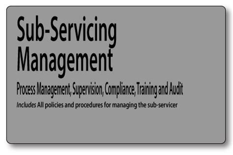 Anti Money Laundering Sar Reporting Mortgage Policies Sub Servicing Management And Quality