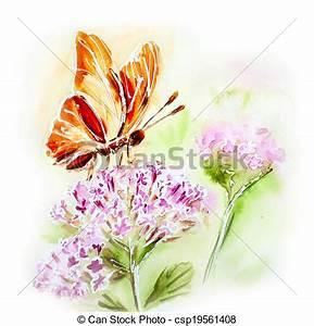 Blumen Bilder Gemalt : papillon sommer gemalt aquarell blumen karte ~ Orissabook.com Haus und Dekorationen