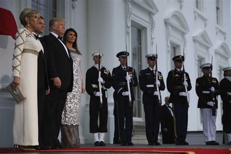 United States President Donald Trump and first lady ...