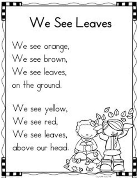 preschool short poems the 25 best kindergarten poems ideas on 114