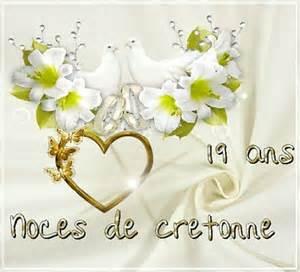 anniversaire de mariage 14 ans 19 ans de mariage noces de cretonne