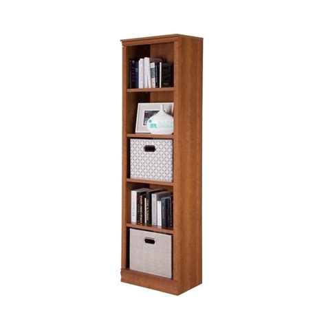south shore 5 shelf bookcase south shore 5 shelf narrow bookcase in