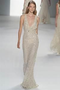 deep v neck elie saab beaded wedding dress onewedcom With deep v wedding dress