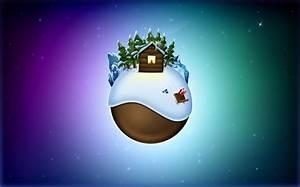 photos a theme de noel la terre les arbres maison With conception de maison 3d 10 conception de no235l arbre abstrait etoiles fond bleu hd