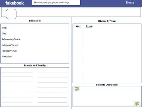 Fakebook Template Fakebook Template Beepmunk