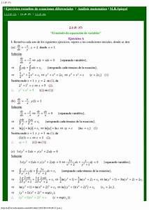 Ejercicios Resueltos De Ecuaciones Diferenciales De