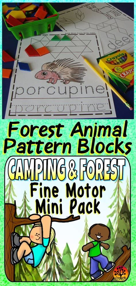 camping centers forest activities fine motor centers ot