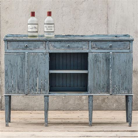 Country Sideboard by Peitro Country Weathered Antique Blue Wood