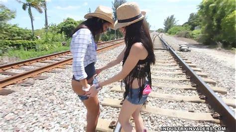 Public Lesbian Teen Sex Lets Run A Train