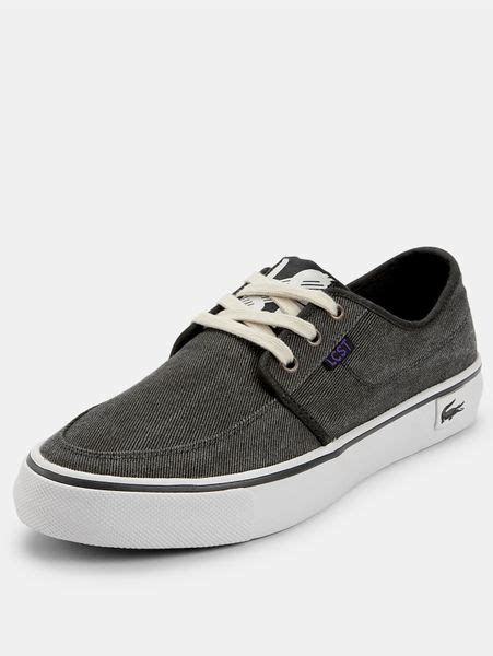 Lacoste Black Boat Shoes by Lacoste Lacoste Vaultstar Mens Boat Shoes In Black For