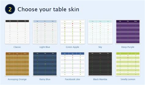 comparison table template html how to create html comparison tables in minutes