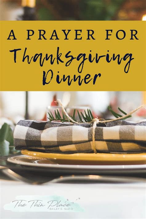 thanksgiving prayer thethinplace
