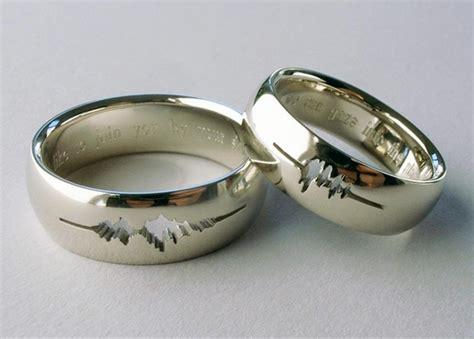 geek wedding ring engraving 23 adorkable wedding rings for geeks in love