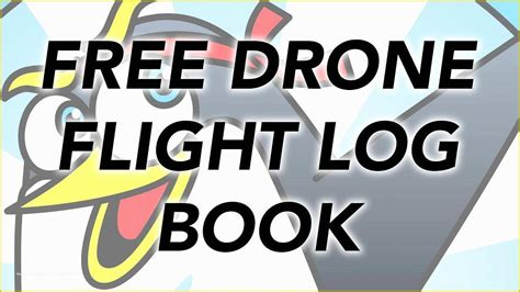 drone logbook template   drone flight log book