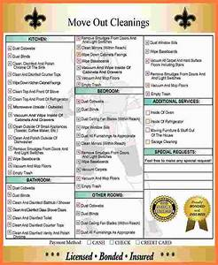 Formal Report Samples 10 Move Out Cleaning Checklist Marital Settlements