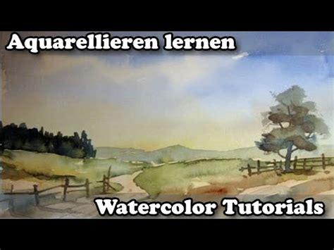 aquarell uebung einfacher himmel youtube