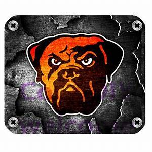 Cleveland Browns Burnt Orange Seal Brown and White Post